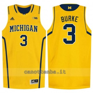 Canotta ncaa michigan wolverines trey burke #3 giallo