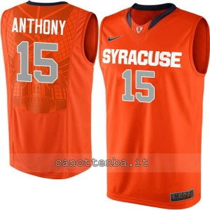 Canotta ncaa syracuse orange carmelo anthony #15 arancia