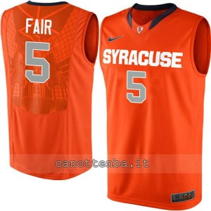 Canotta ncaa syracuse orange fair #5 arancia
