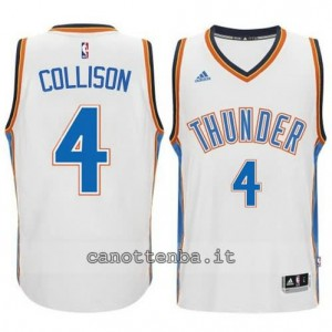 Canotta nick collison #4 oklahoma city thunder 2014-2015 bianca
