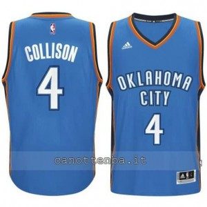 Canotta nick collison #4 oklahoma city thunder 2014-2015 blu