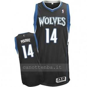 Canotta nikola pekovic #14 minnesota timberwolves revolution 30 nero