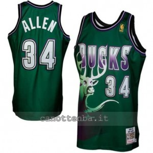 Canotta ray allen #34 milwaukee bucks 1996-1997 retro