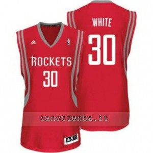 Canotta royce white #30 houston rockets revolution 30 rosso