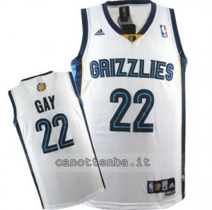 Canotta rudy gay #22 memphis grizzlies revolution 30 bianca