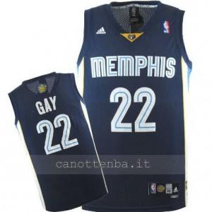 Canotta rudy gay #22 memphis grizzlies revolution 30 blu