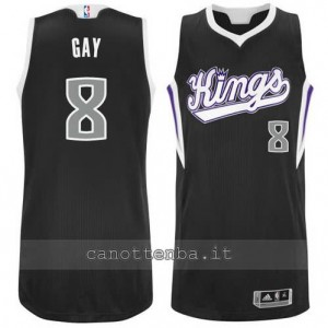 Canotta rudy gay #8 sacramento kings revolution 30 nero