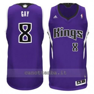 Canotta rudy gay #8 sacramento kings revolution 30 porpora