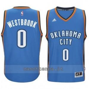 Canotta russell westbrook #0 oklahoma city thunder 2014-2015 blu