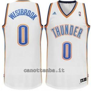 Canotta russell westbrook #0 oklahoma city thunder revolution 30 bianca
