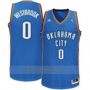 Canotta russell westbrook #0 oklahoma city thunder revolution 30 blu