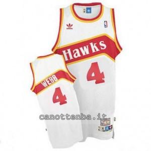 Canotta spub webb #4 atlanta hawks retro bianca