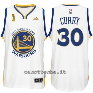 Canotta stephen curry #30 golden state warriors campioni 2015 bianca