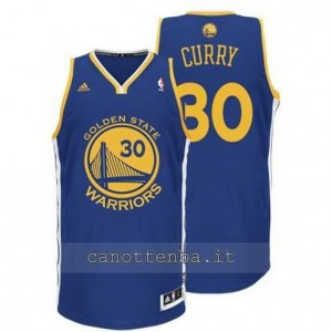 Canotta stephen curry #30 golden state warriors revolution 30 blu