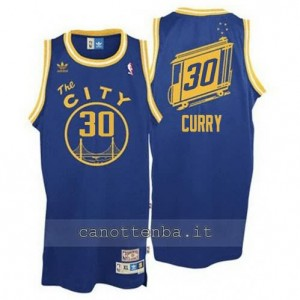 Canotta stephen curry #30 golden state warriors throwback blu