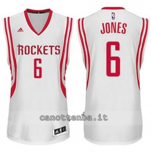 Canotta terrence jones #6 houston rockets 2014-2015 bianca