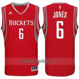 Canotta terrence jones #6 houston rockets 2014-2015 rosso