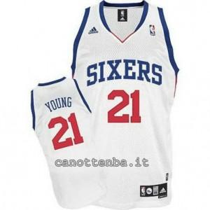 Canotta thaddeus young #21 philadelphia 76ers revolution 30 bianca