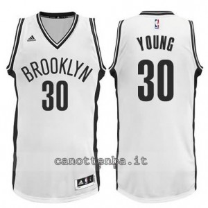 Canotta thaddeus young #30 brooklyn nets revolution 30 bianca