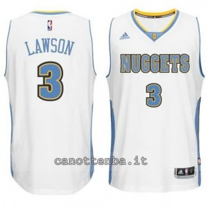 Canotta ty lawson #3 denver nuggets 2014-2015 bianca