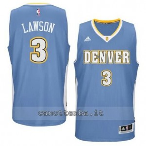 Canotta ty lawson #3 denver nuggets 2014-2015 blu