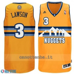 Canotta ty lawson #3 denver nuggets revolution 30 giallo