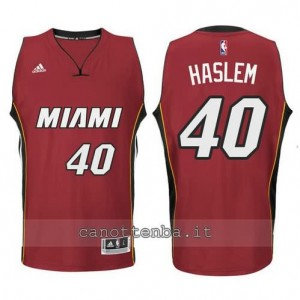 Canotta udonis haslem #40 miami heat 2014-2015 rosso