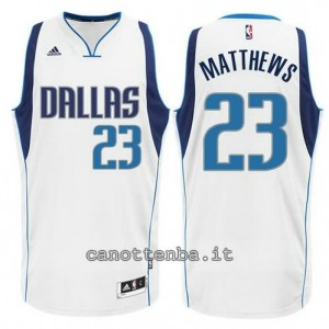 Canotta wesley matthews #23 dallas mavericks swingman bianca