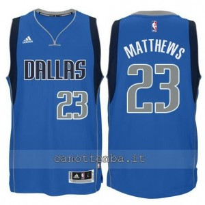 Canotta wesley matthews #23 dallas mavericks swingman blu