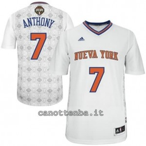 Canotta carmelo anthony #7 new york knicks 2014 bianca