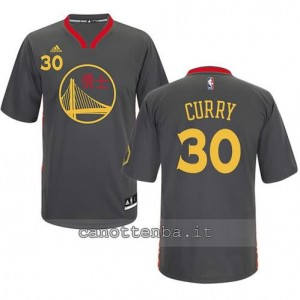 Canotta stephen curry #30 golden state warriors cinese nero
