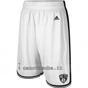 pantaloncini nba brooklyn nets bianca