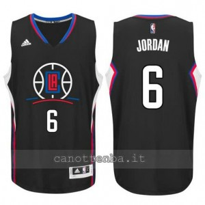 canotta DeAndre jordan #6 los angeles clippers 2015-2016 nero