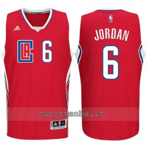 canotta DeAndre jordan #6 los angeles clippers 2015-2016 rosso