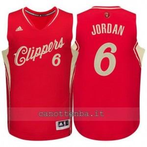 canotta DeAndre jordan #6 los angeles clippers natale 2015 rosso