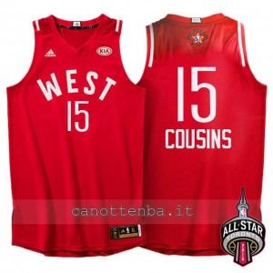 canotta DeMarcus cousins #15 nba all star 2016 rosso