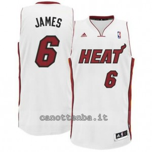 canotta LeBron james #6 miami heat revolution 30 bianca
