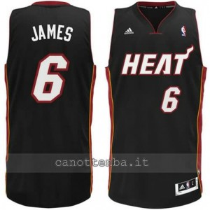 canotta LeBron james #6 miami heat revolution 30 nero