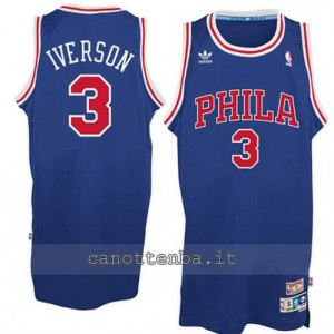 canotta allen iverson #3 philadelphia 76ers blu