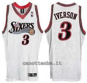 canotta allen iverson #3 philadelphia 76ers soul bianca