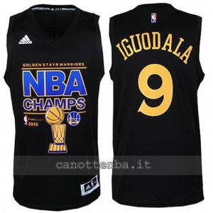 canotta andre iguodala #9 golden state warriors campioni 2014-15 nero