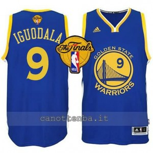 canotta andre iguodala #9 golden state warriors finale 2015 blu