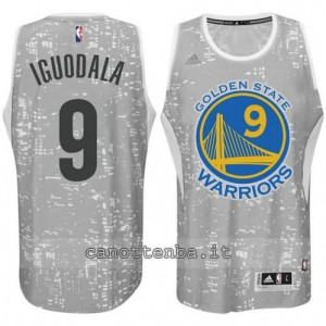 canotta andre iguodala #9 golden state warriors lights grigio
