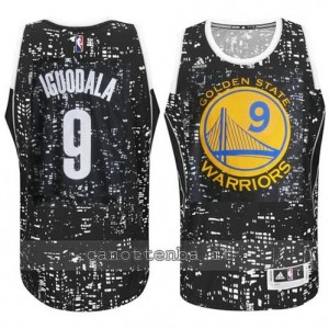 canotta andre iguodala #9 golden state warriors lights nero