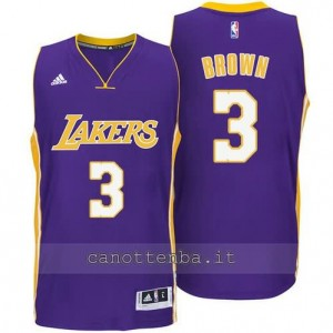 canotta anthony brown #3 los angeles lakers 2014-2015 porpora