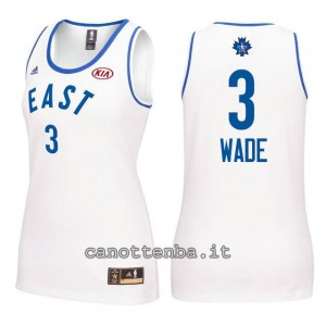 canotta nba donna all star 2016 dwyane wade #3 bianca