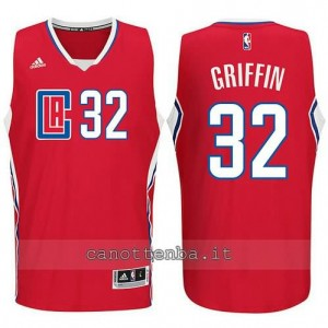 canotta blake griffin #32 los angeles clippers 2015-2016 rosso