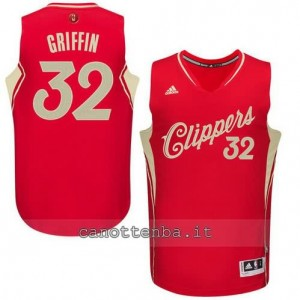 canotta blake griffin #32 los angeles clippers natale 2015 rosso