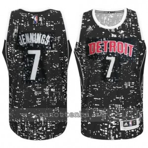 canotta brandon jennings #7 detroit pistons lights nero