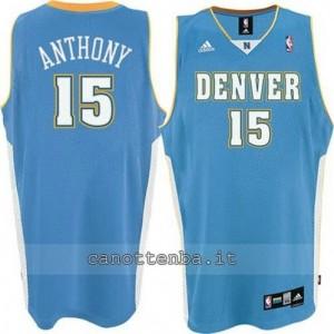 canotta carmelo anthony #15 denver nuggets blu